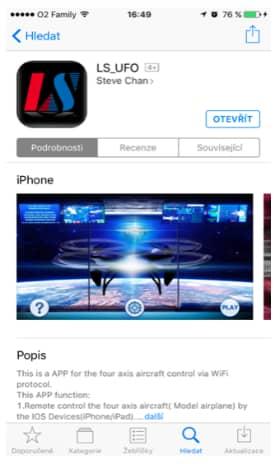 aplikace pro dron L6052W