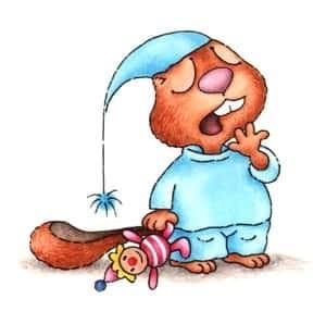dětská ilustrace Ladislava Pechová, když šel malý bobr spát
