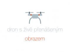 Dron s živým přenosem do mobilu