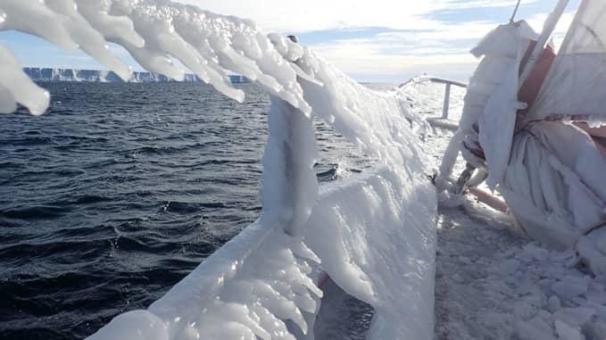 Expedice Selma, moře, Antarktida, námořní doprava
