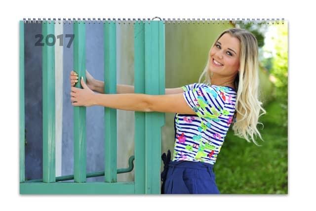 HappyFoto kalendář, fotokalendáře dívka