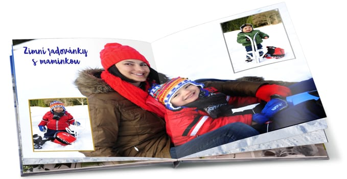 Zimní fotokniha od HappyFota, zimní radovánky
