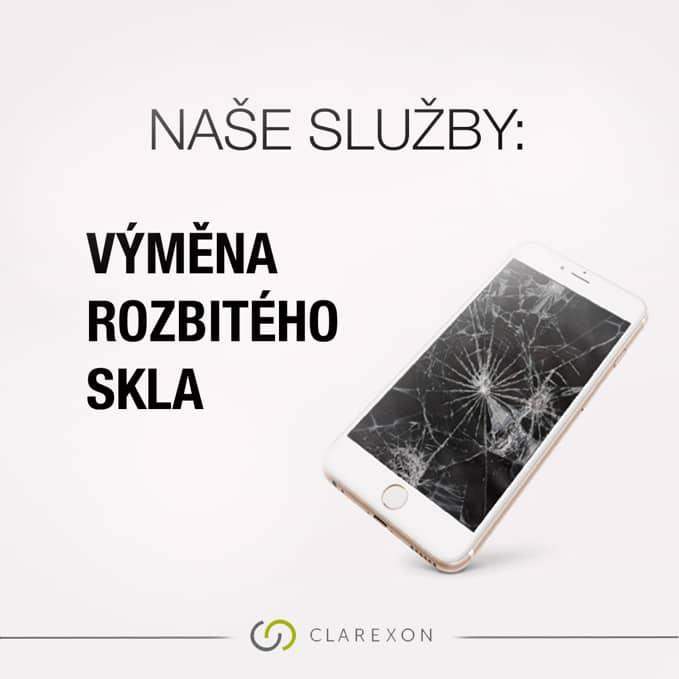 Apple servis, Iphone, Mac, Clarexon služby, výměna rozbitého skla