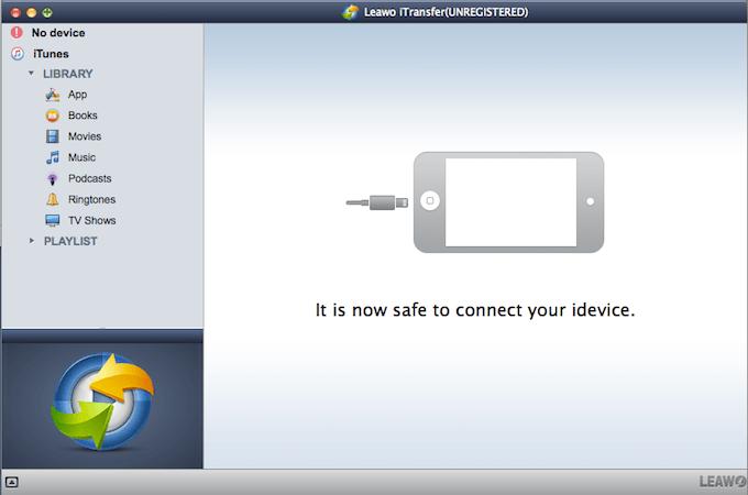 přenos souborů z iOS na počítač, iTransfer, správce souborů od Leawo