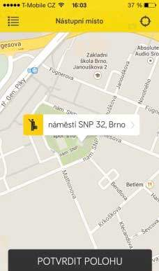 Recenze Mobilní aplikace City Taxi Brno, mapa brna