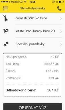 Recenze Mobilní aplikace City Taxi Brno