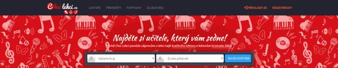 homepage, najděte si učitele hudby