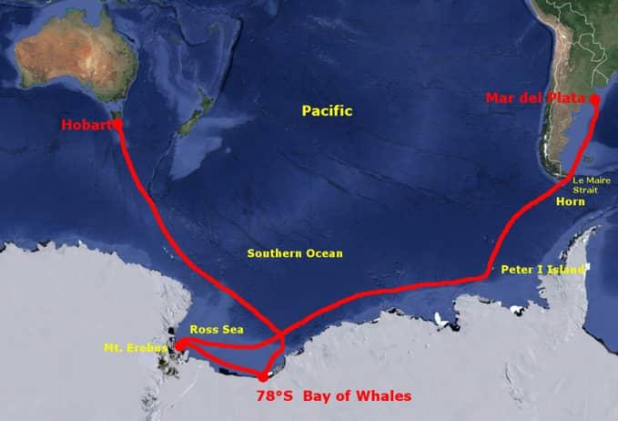 Námořní doprava, expedice Selma a nejjižněji dosažené místo lodí