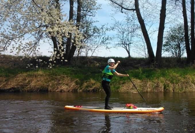paddleboarding, jevanský rybník, ladislava pechová