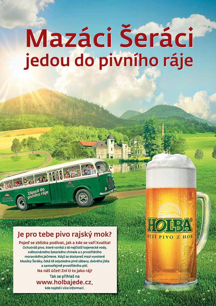 pivovar Holba, Pojeďte s Holbou do pivního ráje