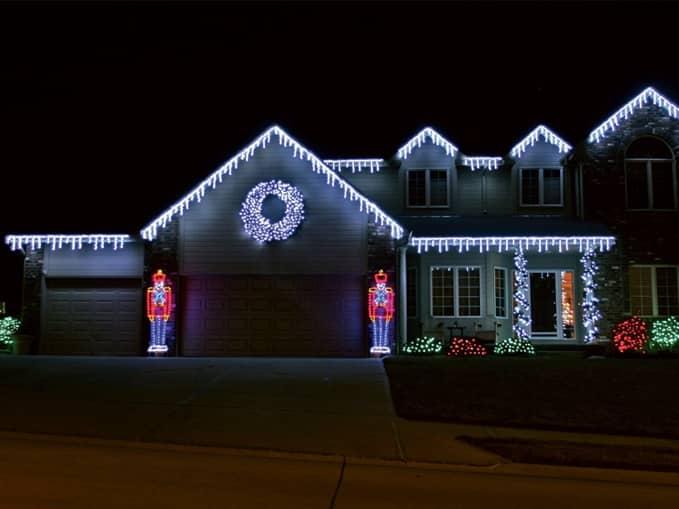 Vánoční světelné dekorace, vánoční dekorace dům