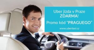 Uber, taxi, jízda zdarma, taxi Praha