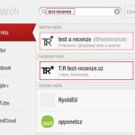 Aplikace Flipboard, vyhledávání