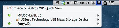 Utilita Western Digital WD Quick View, MAC OS X verze
