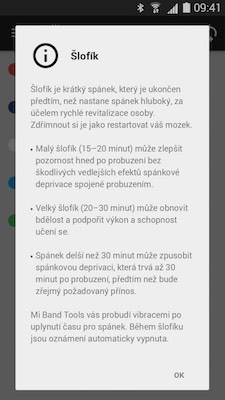 aplikace Xiaomi MiBand