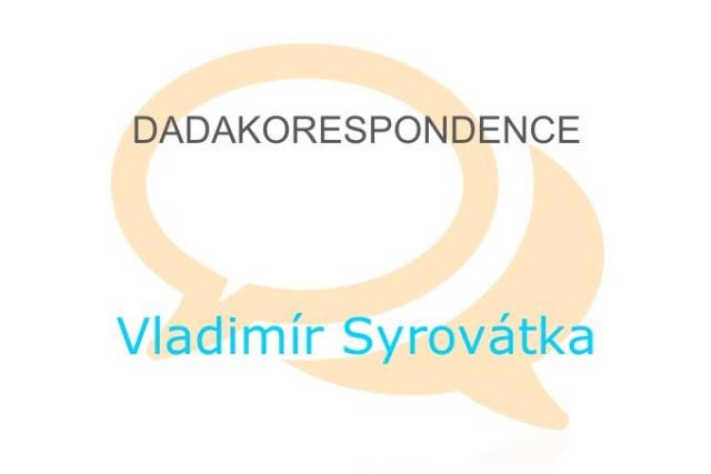kniha dadakorespondence vladimír syrovátka