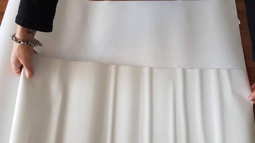 Srovnání kvality povrchu u originální tapety Legamaster a neoriginálního výrobku