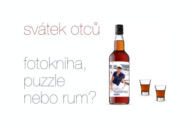 Svátek otců to je fotokniha, puzzle, rum