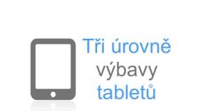 Tři úrovně výbavy tabletů, ipad, ios, androis, samsung